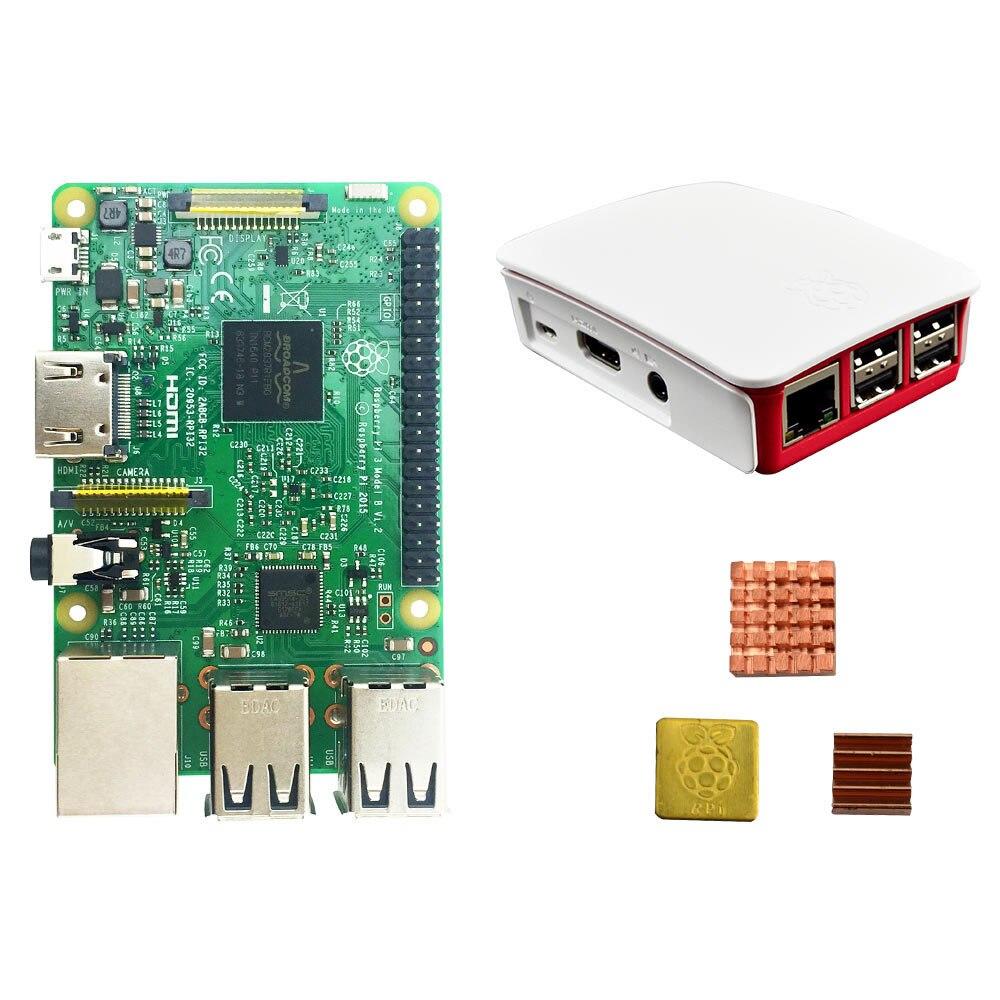 Raspberry pi 3 model b + Оригинальный чехол pi 3 + радиаторы pi3 b / pi 3b с Wi-Fi и bluetooth
