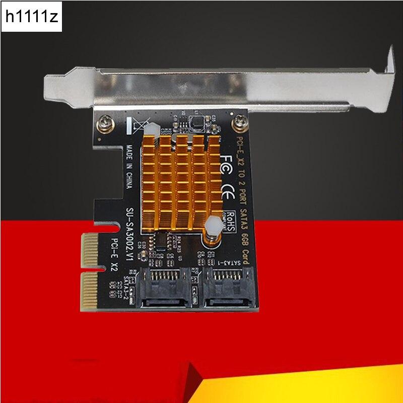 Для SA3002 ASM1062 чип PCI-E для SATA 3,0 карта расширения 6GSATA3.0 интерфейс жесткий диск карта расширения Интерфейс адаптер карта
