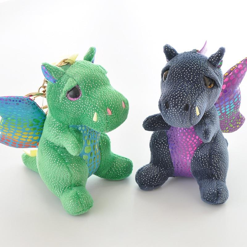 12 cm Merlin the Dragon Plush Regular Soft Big-eyed Stuffed Animal Collection Doll Toy with keychain