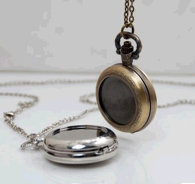 Vintage Style bronze silver DIY pocket watch pendant wholesale free-map pocket watch good quality wholesale