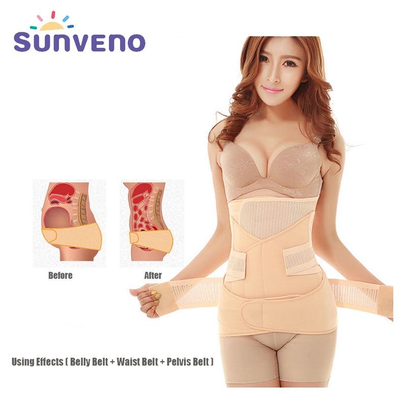 Женский послеродовой бандаж Sunveno, профессиональный бандаж для коррекции живота 3 в 1, пояс для похудения