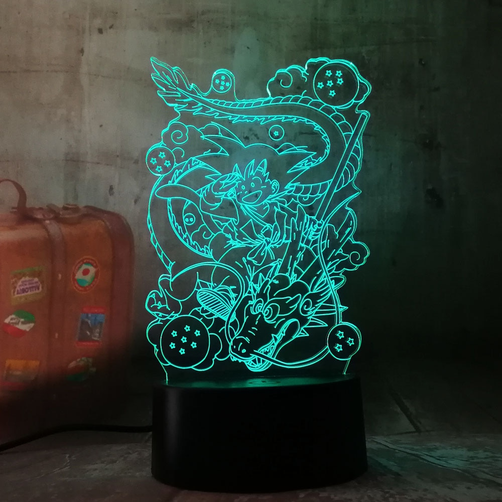 Neue LED Beleuchtung Geschenk Sieben Dragon Ball Son Goku Totem Acryl 3D RGB Nacht Lichter USB Leds Tisch Lampe Touch steuer Hause Lampe