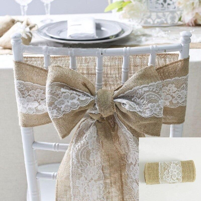 2 piezas 270 cm rollo de Yute Natural encaje arpillera Navidad arpillera país evento Fiesta suministros boda decoración mantel camino