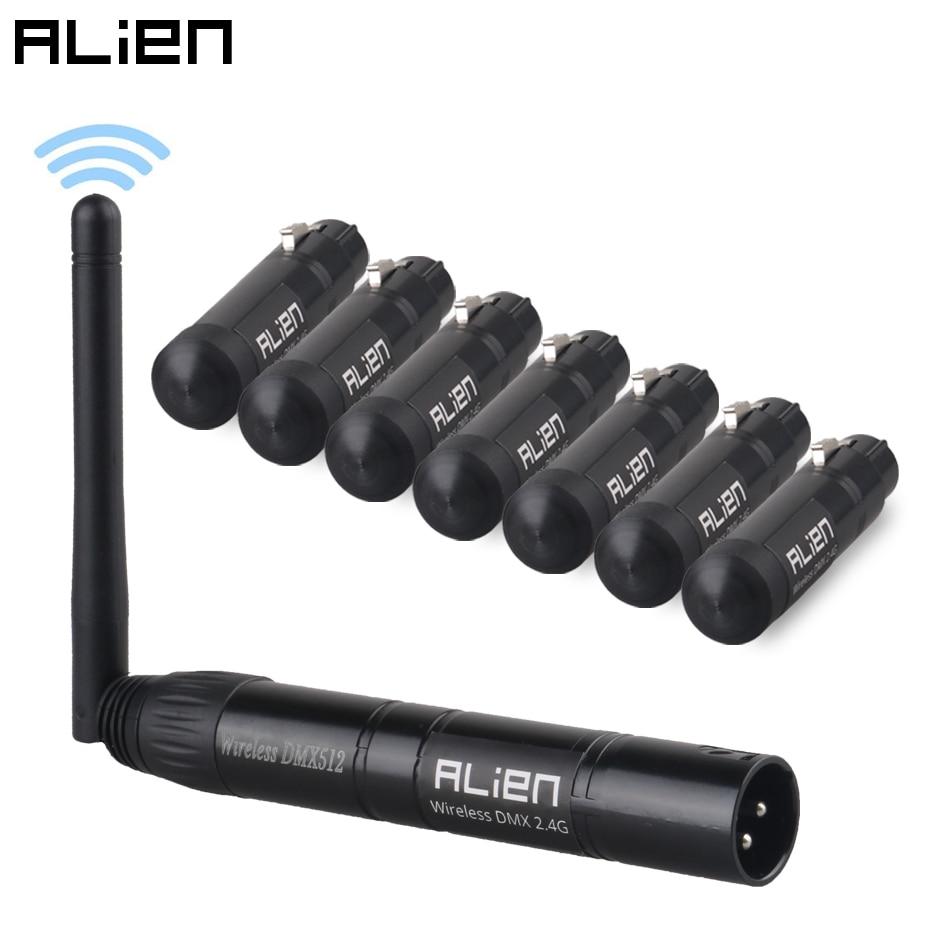 ALIEN-جهاز إرسال لاسلكي XLR 2.4G ISM DMX 512 ، جهاز إرسال تحكم Dfi ، للدي جي ، الحفلة ، البار ، المسرح ، رأس متحرك ، ضوء ليزر