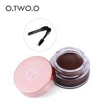 O.TWO.O Eyebrow 6 Colors Waterproof Eyebrow Tattoo Long Lasting Professional Eyebrow Cream With Brush Makeup Cosmetic