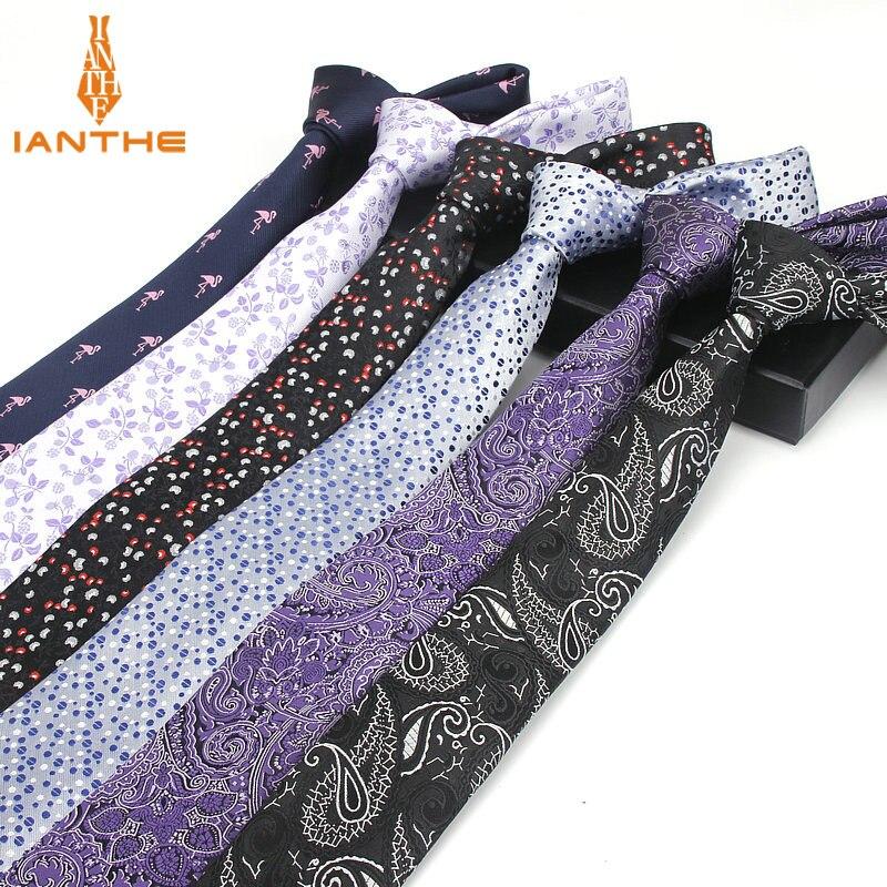 Gravata clássico paisley dot jacquard flor 6cm gravata fina gravata gravata masculina gravata gravata masculina gravata
