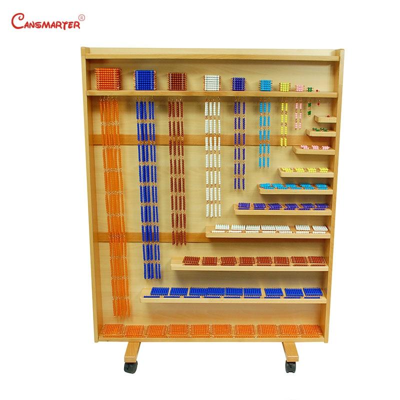 Montessori Math Set of Beads and Cabinet Math Toys Beads Shelf Montessori Materials Educational Beech Wood Toys Teaching MA139-1
