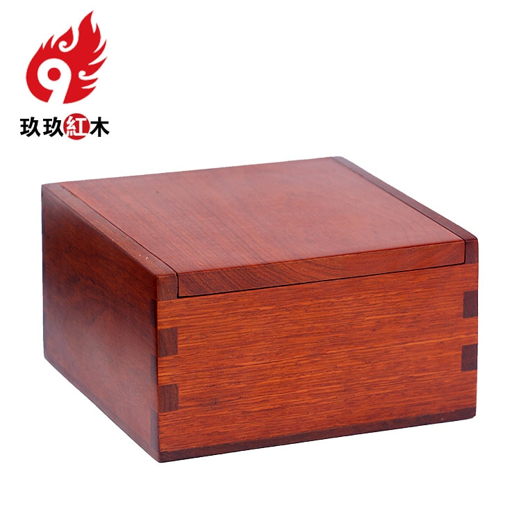 Grade wood jewelry box mahogany casket jewelry storage box necklace simple retro Chinese housing