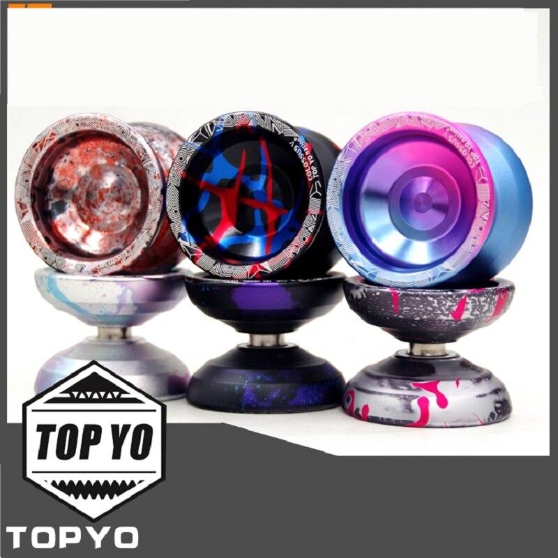 Nueva llegada TOPYO Colossus 5 YOYO profesional yoyo TOPYO nación metal rodamiento yoyo Bola de Metal competencia