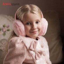Детские однотонные наушники на осень и зиму, наушники для мальчиков и девочек, теплые и удобные лыжные наушники, модные наушники