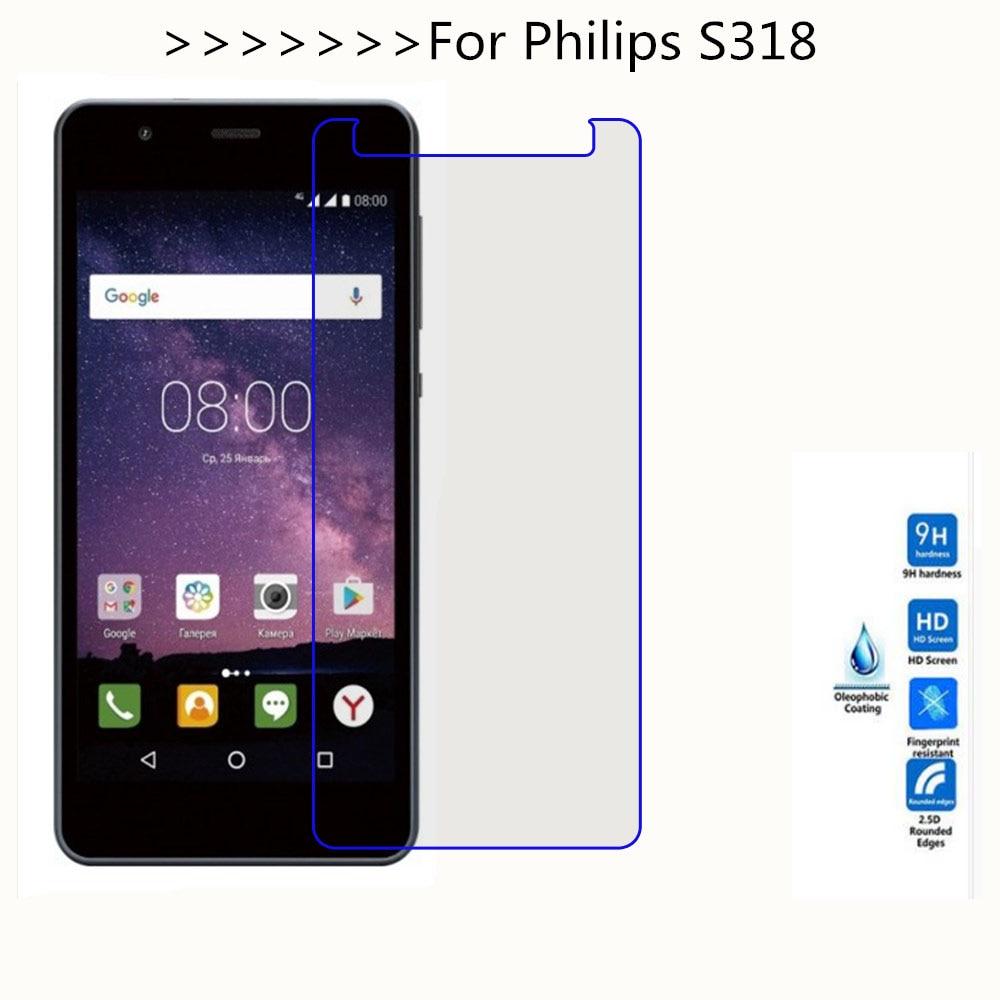 Закаленное стекло для Philips S318 Взрывозащищенный ЖК экран защитный экран Защитные