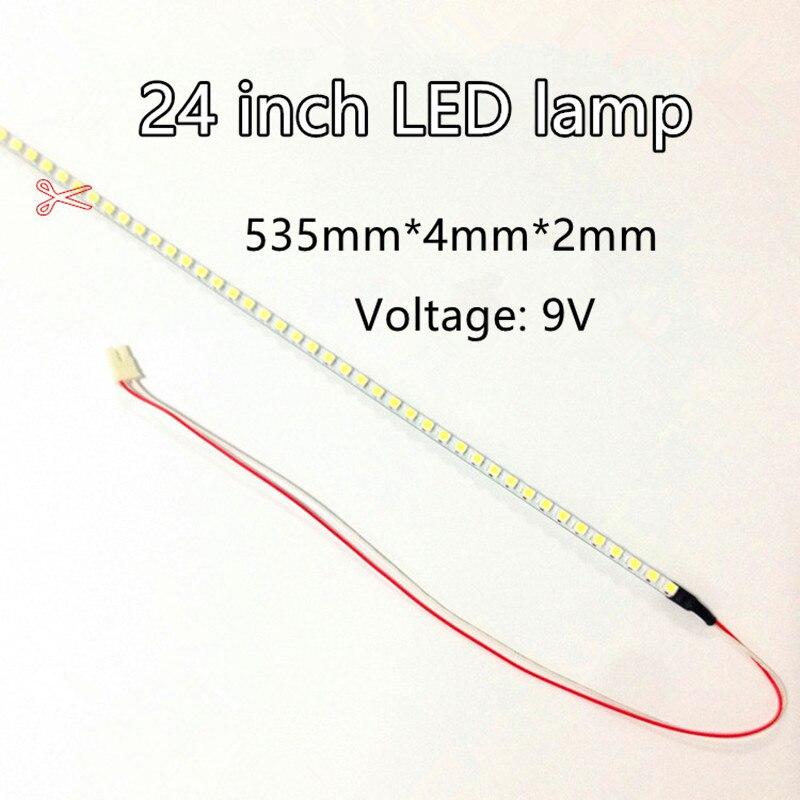 Светодиодная балка 24 дюйма, широкоформатный ЖК-монитор 24 дюйма, Модифицированная яркая световая балка 533*4*3 мм, 96 лампочек