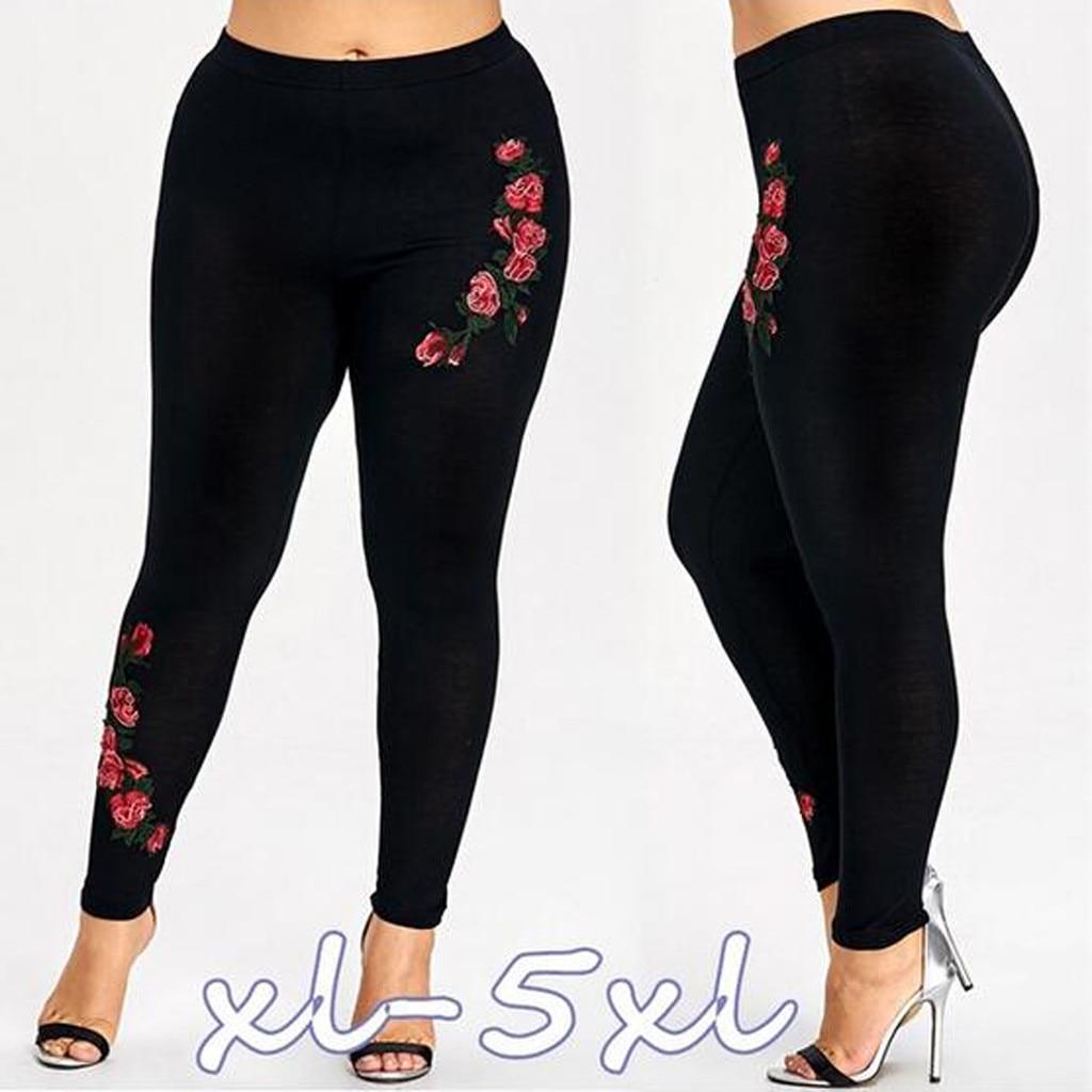 Été nouveau vente chaude pantalon femmes mode grande taille 5XL solide Appliques taille haute haut Long pantalon quotidien en gros