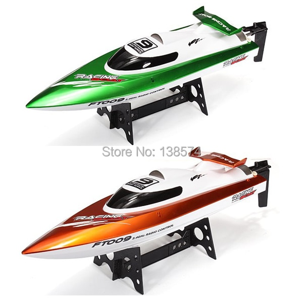Xiangtat Feilun FT009 FT007 verde naranja actualizado 2,4G juguetes de control remoto refrigeración por agua barco RC de alta velocidad