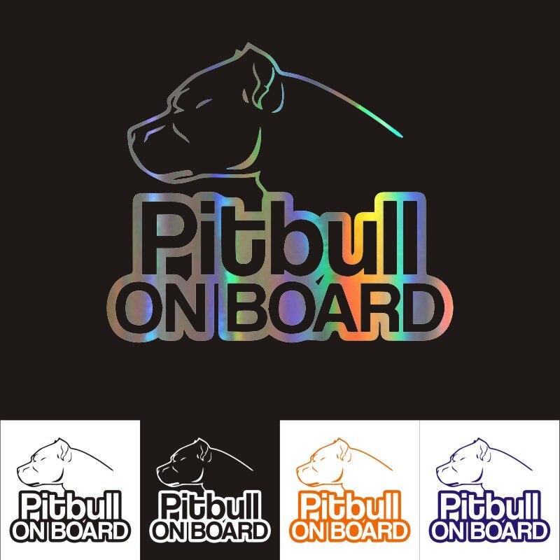 Autocollants Pitbull pour voiture et moto, 16CM x 13.9CM, réfléchissants, personnalisés, achetez-en 2, économisez la moitié