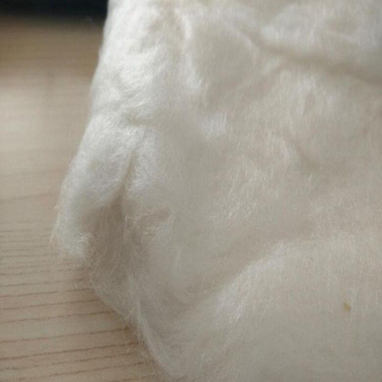 Fibra de material de seda de morera corta 100% material saludable respetuoso con el medio ambiente para relleno de almohada 1 kg en venta