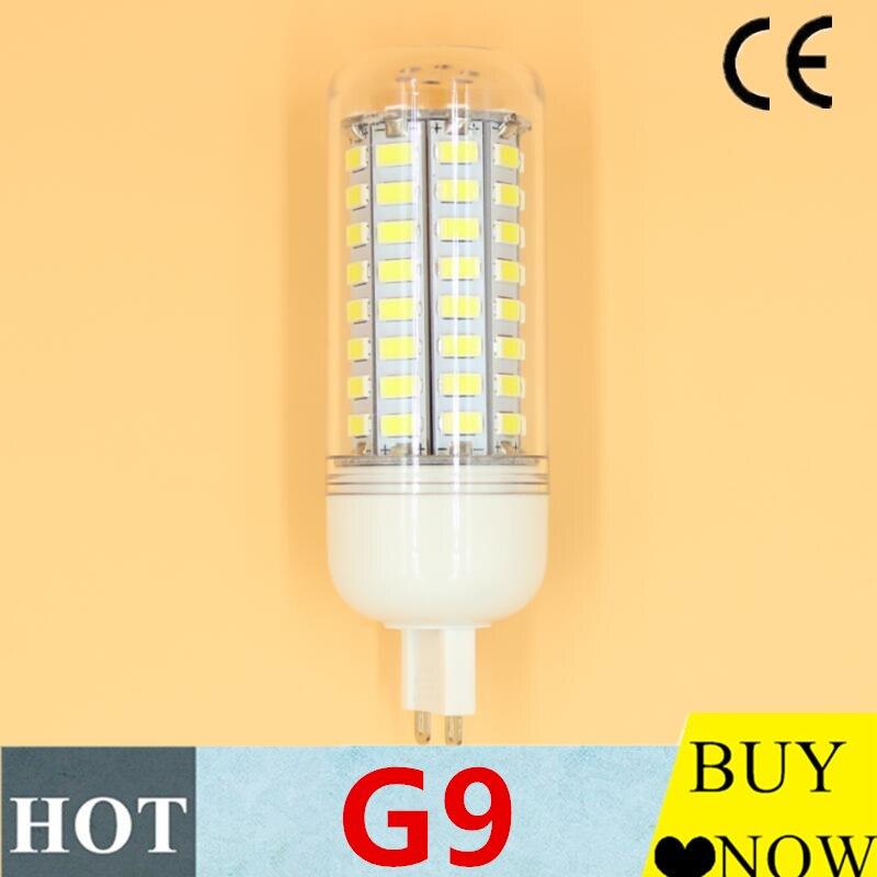 Светодиодная лампа G9 высокой мощности, 24, 36, 48, 56, 69, 72, 81, 5730, переменный ток, 220 В, лампа для кукурузы, теплый белый/белый, 25-45 Вт, Галогенная заме...