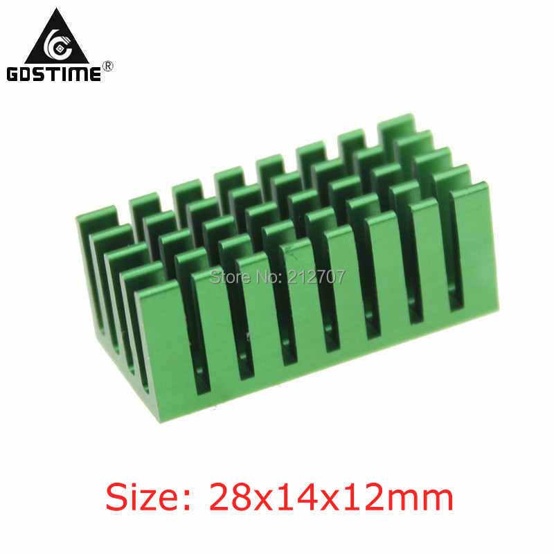 10 unids/lote Gdstime 28x14x12mm disipador de calor para Chip IC MOS VGA Tarjeta de refrigeración