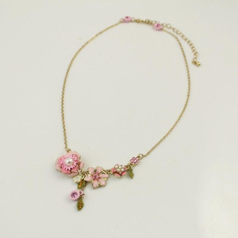 Yeni Viennois Moda JewelryAlloy Kadın Zincir Bilezikler Trendy Renkli Çiçek Emaye Bilezik