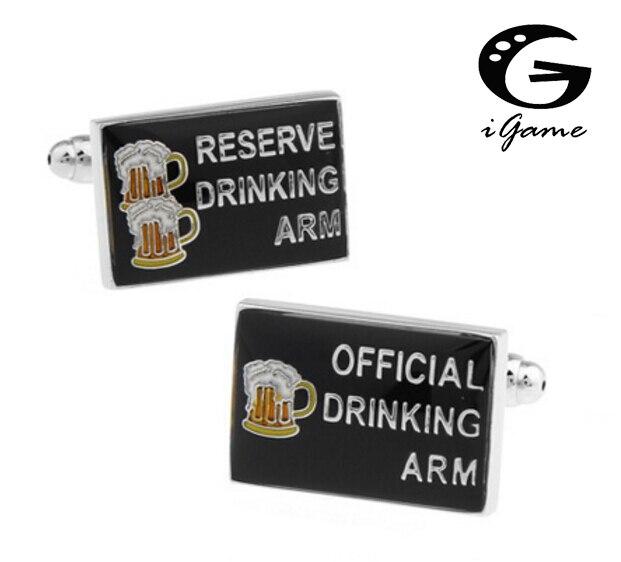 Igame moda manguito links reserve reserva beber braço & oficial beber braço black cor preta design de jogo exclusivo frete grátis