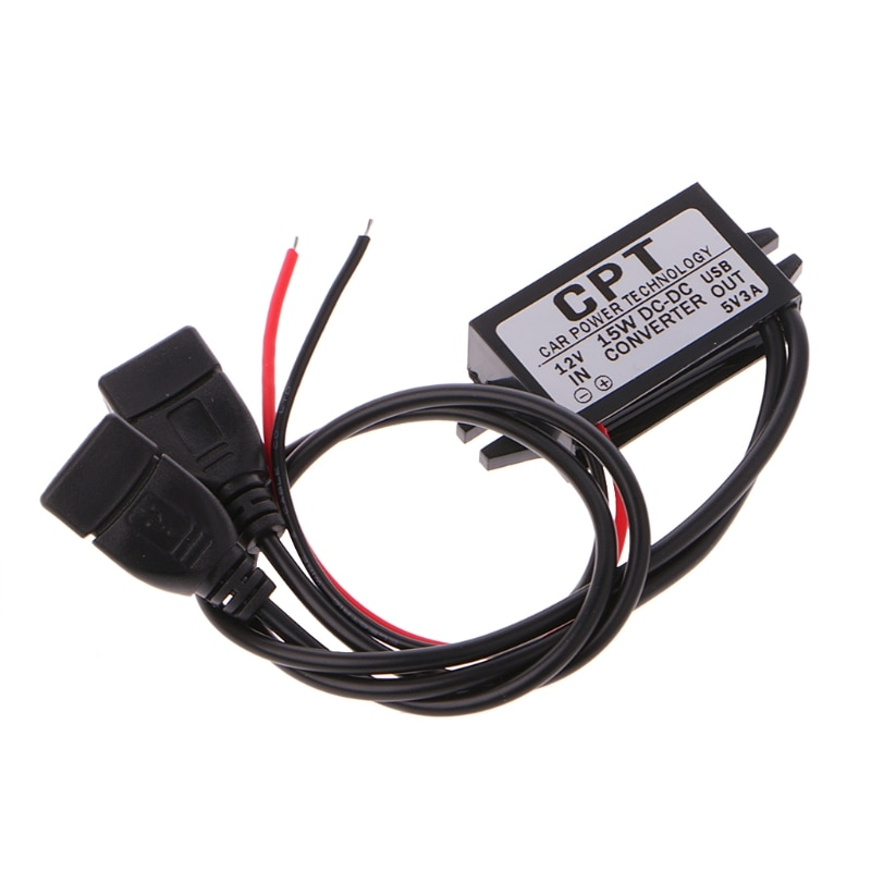 DC Converter 12V To 5V 3A Double 2 USB To Auto Power Regulator Voltage Step Down Dls drop ship