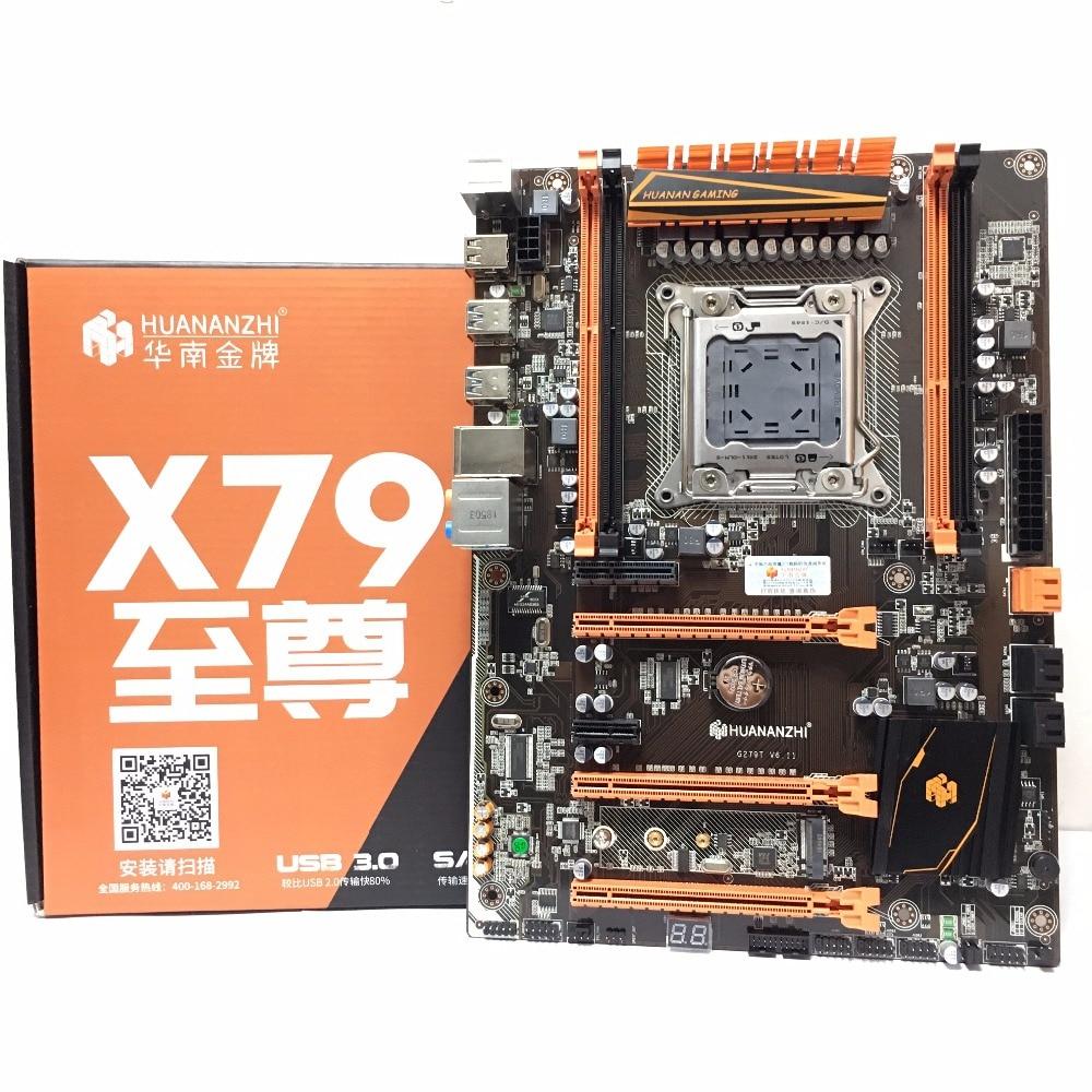 HUANANZHI deluxe X79 LGA 2011 DDR3 PC 마더 보드 서버에 적합한 컴퓨터 마더 보드 RAM 데스크탑 RAM M.2 SSD