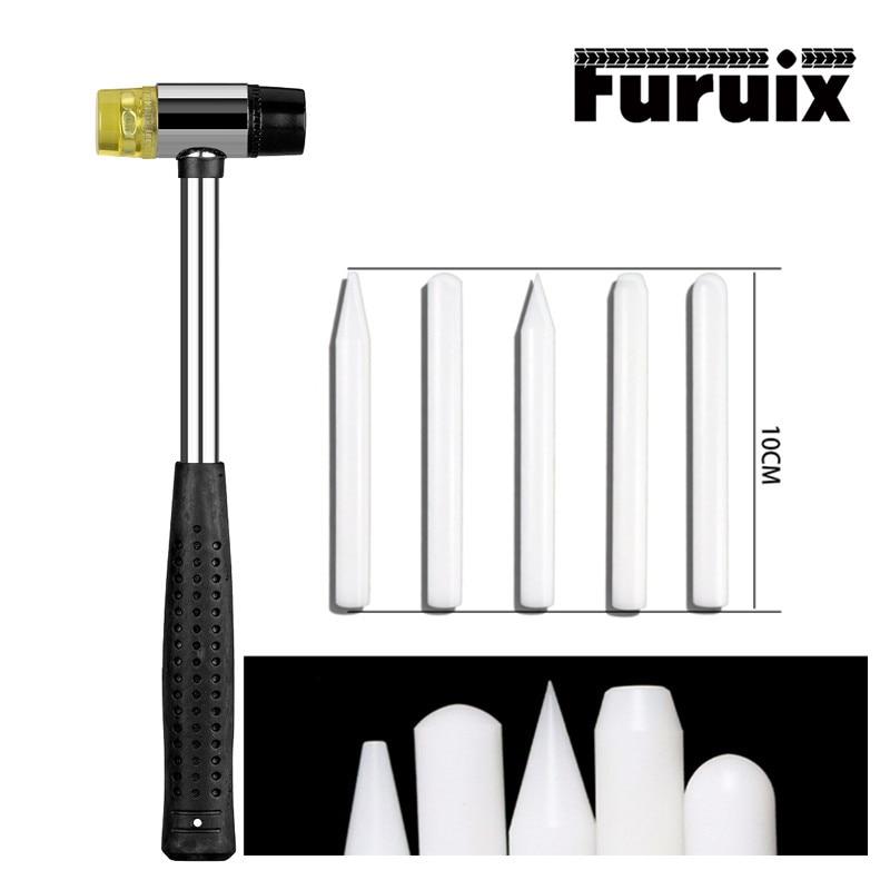 Инструменты для ремонта автомобильных вмятин, резиновый молоток, белая ручка для снятия вмятин, инструмент для ремонта автомобиля, набор ру...