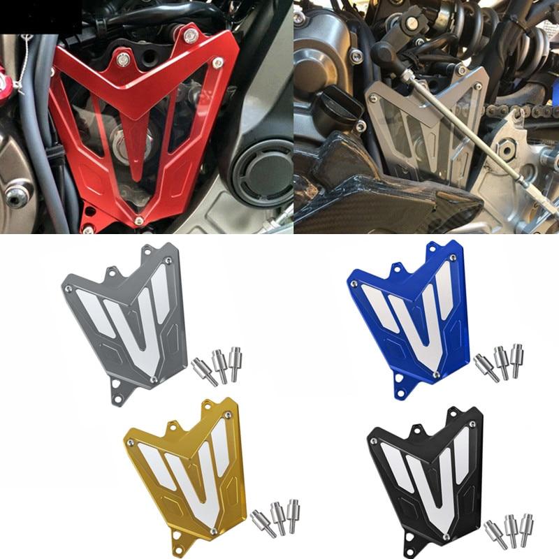 MT-07 FZ-07 защита цепи двигателя для YAMAHA MT07 MT 07 FZ07 FZ 07 2013 2014 2015 2016 мотоцикл CNC алюминиевая передняя Звездочка крышка