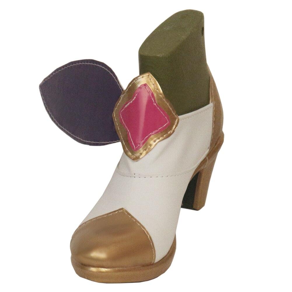 Brdwn ماجيك فتاة المرأة ستار الجارديان تسعة ذيل الثعلب أهري باونتي هنتر ملكة جمال فورتشن تأثيري bowknot زي أحذية عالية الكعب