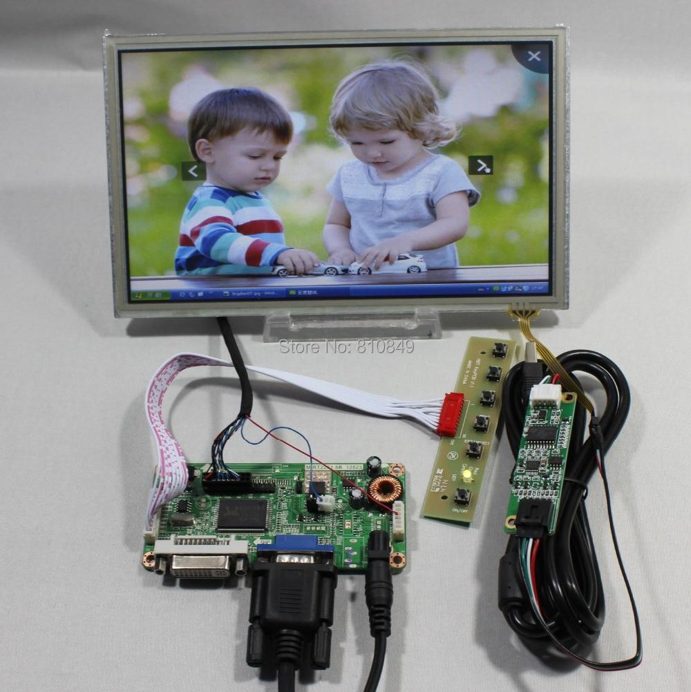 DVI+VGA lcd controller board  +8.9inch HSD089IFW1 1024X600 lcd+Touch screen