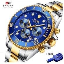 TEVISE Quartz Watches Men Waterproof Luxury Brand Watch Date Man Stianless Steel Mens Wrist Watch Ma