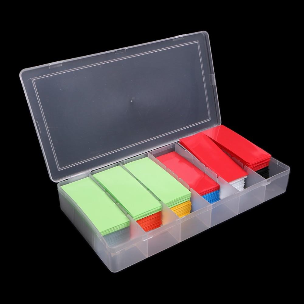 280 Uds tubo Termocontraíble de PVC Kit de envoltura de tubo para 18650 18500 batería plana 18,5mm accesorios de cableado