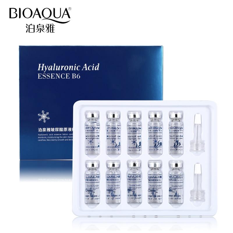 BIOAQUA 10pcs/lot Moisturizing Vitamins Hyaluronic Acid Serum Facial Skin Care Anti Wrinkle Anti Aging Collagen Essence Liquid недорого