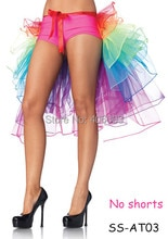 free shipping adult tutu skirts girls colorful clubwear bustle party dance rainbow  carnival tutu skirt