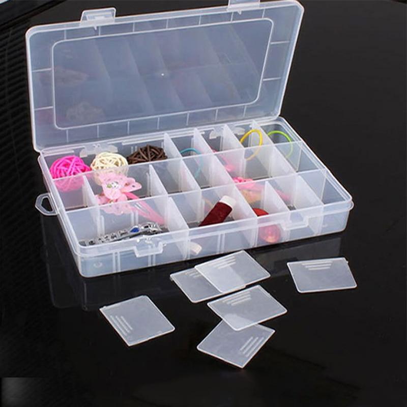1pc sundries assort coletar caixa de armazenamento de componentes caixa de plástico 24 grade caixa de coleta
