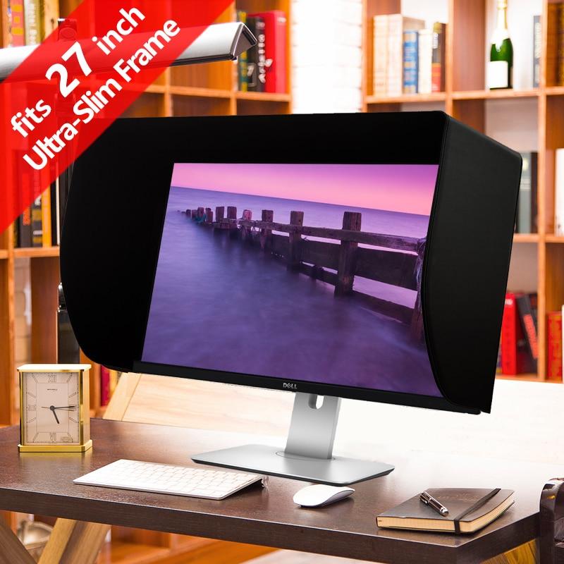 iLooker 27S 27 inch Ultra-Slim Frame LCD LED Video Monitor Hood Sunshade Sunhood for Dell HP Viewsonic Philips Samsung LG EIZO