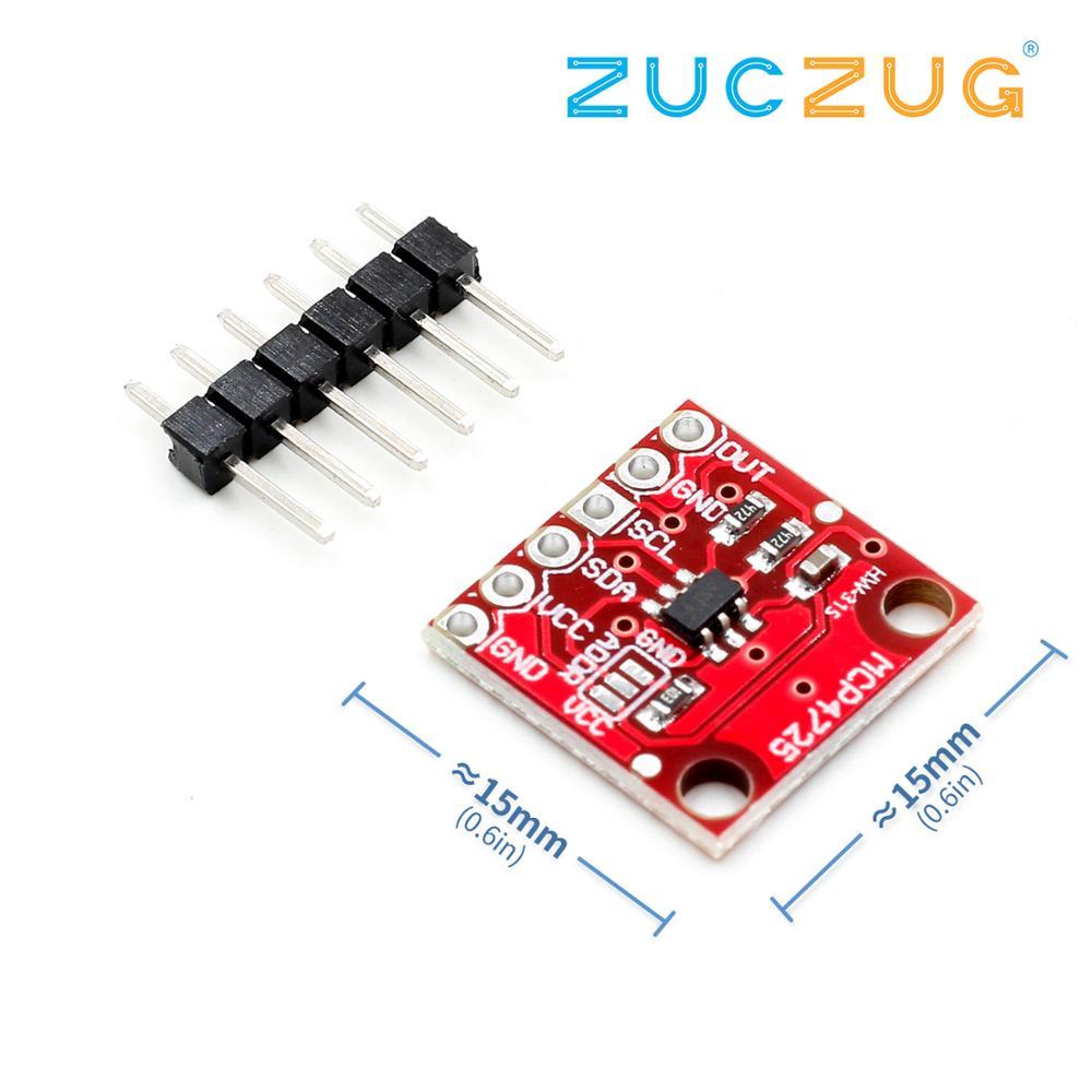 1 unids/lote MCP4725 I2C DAC fuga Placa de desarrollo de módulo