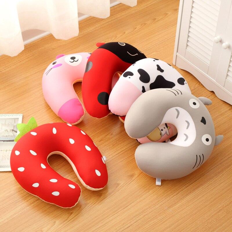 Подушка для путешествий, комфортная, разноцветная, u-образная, для офиса