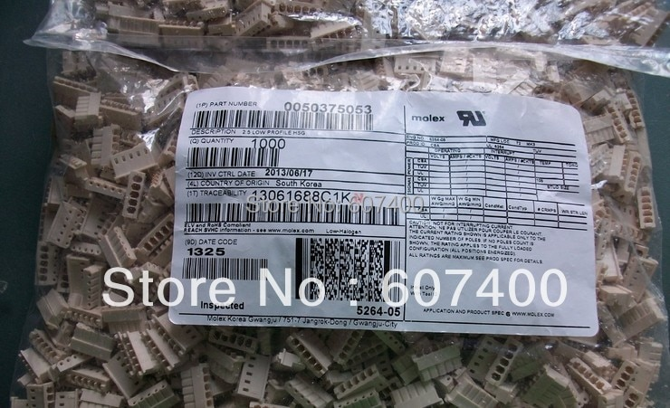 0050375053 conn الإسكان 5pos 2.5 ملليمتر كفن 5037-5053 موصلات محطات إيواء 50375053 ٪ أجزاء 50-37-5053