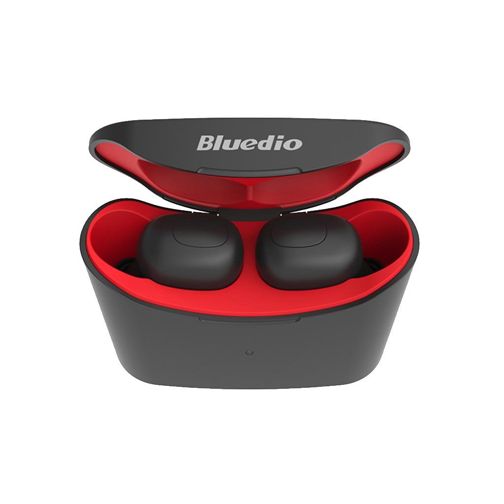 VOBERRY Bluedio t-elf Mini Bluetooth auriculares deportivos Bluetooth 3D Stereo auriculares inalámbricos con caja de carga 118A