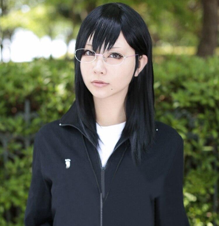Haikyuu! Костюм для косплея Kiyoko Shimizu, длинный черный термостойкий, 45 см