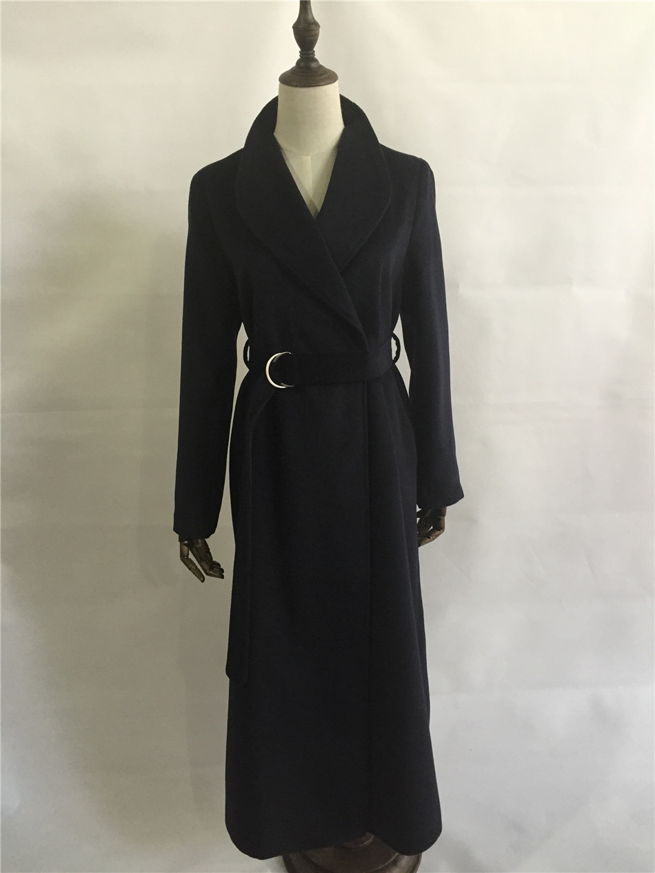 Abrigo largo sencillo de lana de gran tamaño para Otoño e Invierno 2020 para mujer de Manteau femme