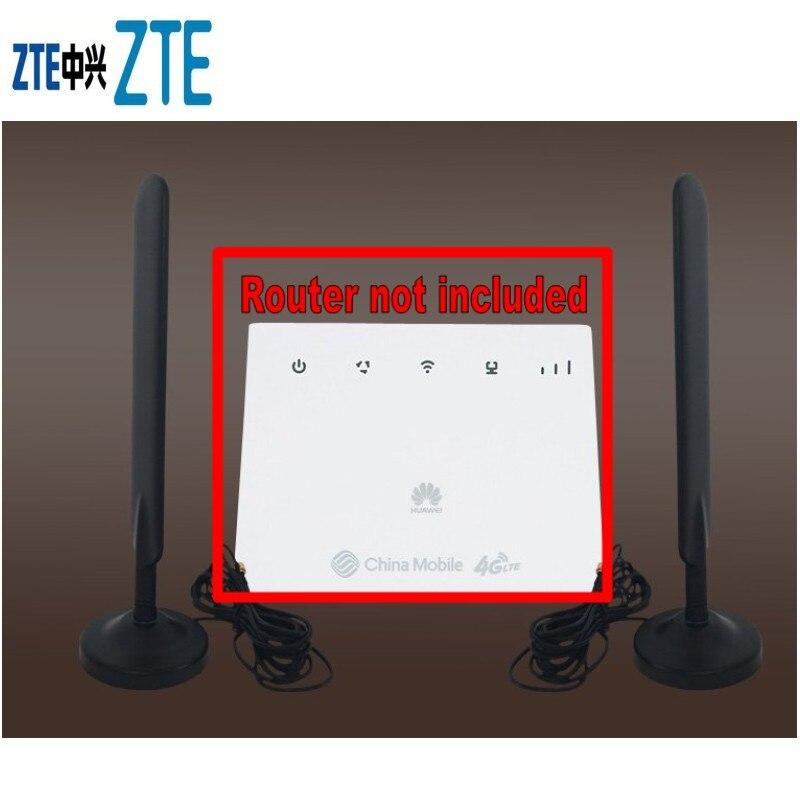 2PCS 4G  antenna SMA male dual interface 4G LTE External Antenna For HUAWEI B525 B310 B315 B593 B612 E5186 4g lte sma connector 4g antenna booster for huawei b310 b593 e5186 b315 e5172 and so on