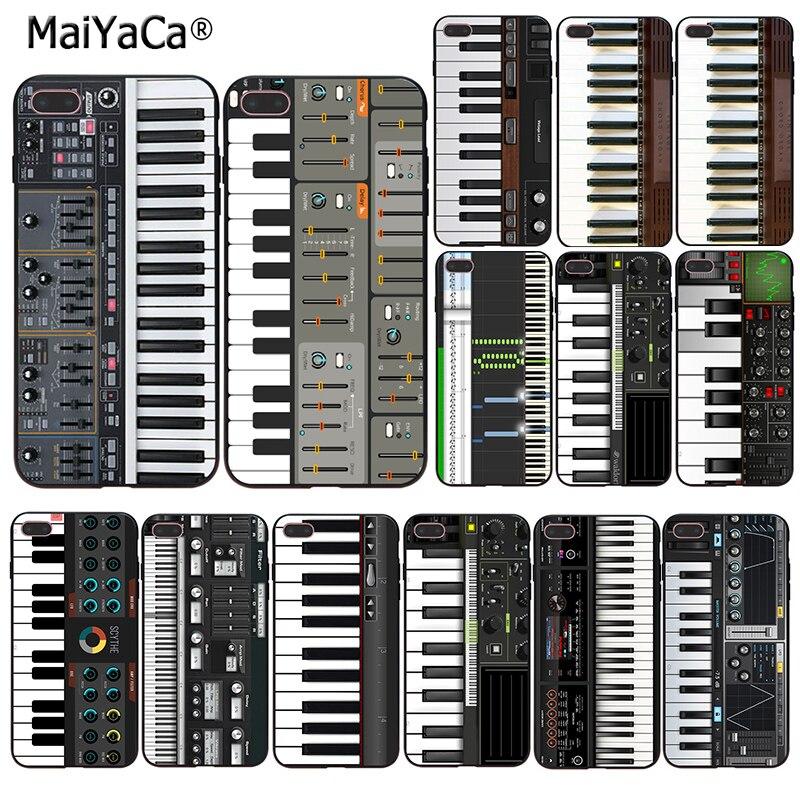 Teclado de música sintetizador MaiYaCa a la venta Caja del teléfono para iphone SE de 2020 11 pro 55s XS 66S 7 8 10 X plus XR XS.