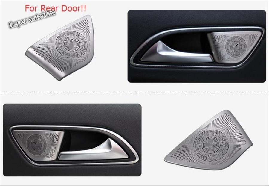 Lapetus Interior For Mercedes-Benz GLA / CLA 200 220 X156 2015 - 2019 Rear Car Door Stereo Speaker Audio Loudspeaker Cover Trim
