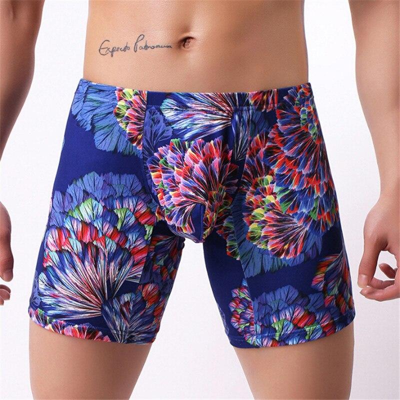 Gran oferta de ropa interior para hombre, calzoncillos de moda para hombre, Boxer suave estampado, Bóxer suelto U plano, Bóxer Masculino