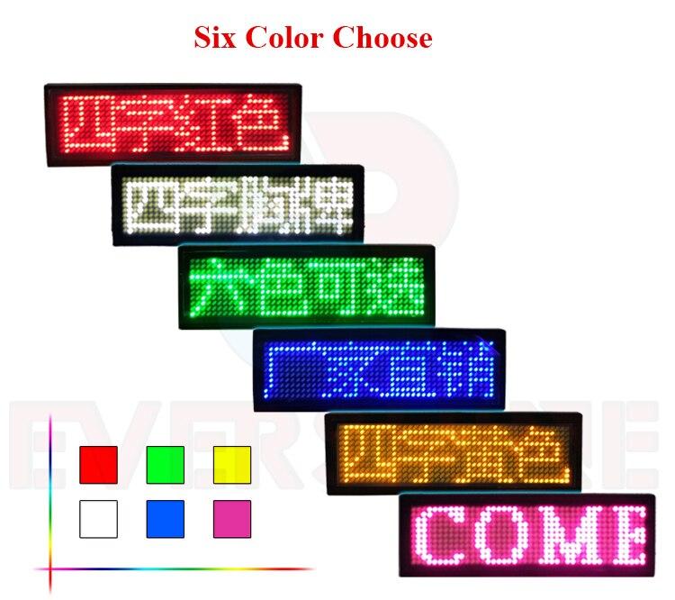HD-NT48 insignia LED desplazamiento publicidad LED nombre signo, interior rojo pantalla LED, rojo, amarillo, azul, verde, blanco (opcional)