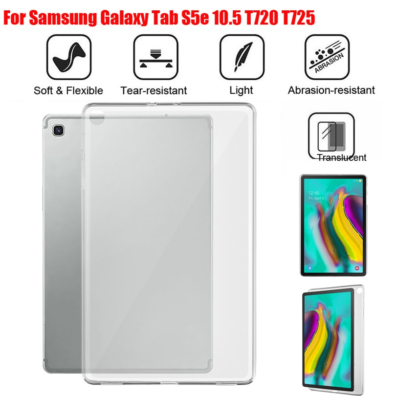 Funda protectora trasera para tableta para Samsung Galaxy Tab S5e T720 T725/Tab A SM-T510/515 Tab A P205/P200 funda de silicona de Gel TPU A30