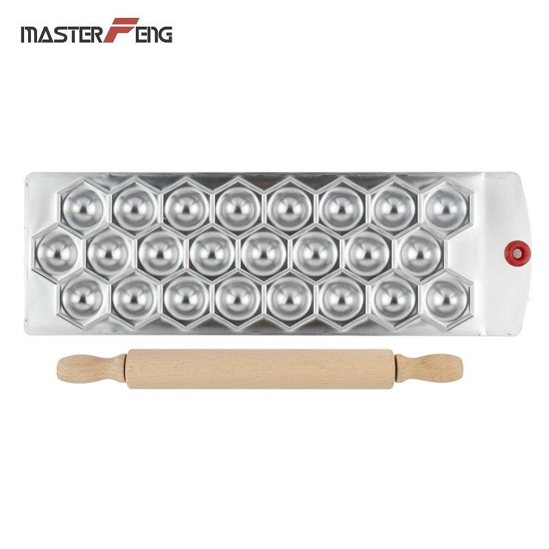 Пластина для литья с 1 роликовым штифтом, 24 Отверстия, Алмазная форма, алюминиевый аксессуар для приготовления ravоли, Клецка, инструмент для MF-24DI