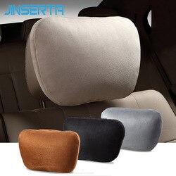 JINSERTA Biológica de veludo Assento de Carro Encosto de Cabeça Travesseiro Maybach Design Classe S Capas de Almofada Travesseiro Carro Pescoço Assento Macio E Confortável